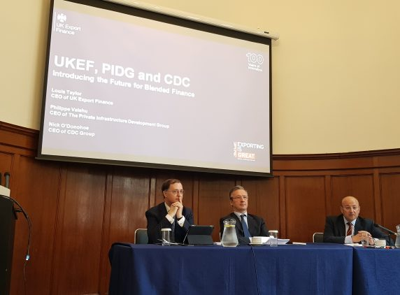 Blended Finance Collaboration workshop, UKEF, PIDG and CDC